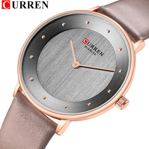 Beautiful Women's Quartz Watches Slim Fashion Leather Ladies Wrist Watch Reloj Mujer CURREN Hot Female Clock Gifts For Women