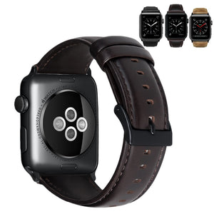ASHEI Watch Wrist Bracelet Strap For Apple Watch 4 Band 40MM 44M 42MM 38MM Retro Vintage Leather Watchband For Iwatch Series 3/2