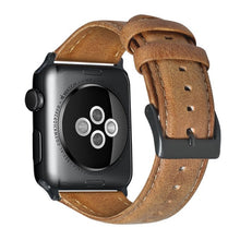Load image into Gallery viewer, ASHEI Watch Wrist Bracelet Strap For Apple Watch 4 Band 40MM 44M 42MM 38MM Retro Vintage Leather Watchband For Iwatch Series 3/2