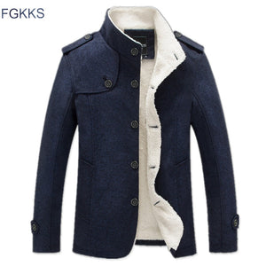 FGKKS 2017 Men's Winter Jacket Fashion Windbreaker Quality Military Men Jacket Coat Brand men Clothing
