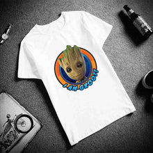Load image into Gallery viewer, Fashion Short Sleeve T Shirt  Young Groot Avengers Hero Printed 100% Cotton Top Tees  Casual O Neck T-Shirt Unisex TShirt