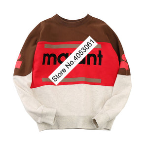 Newest Women Letter Flocking SweaterShirt With Long Sleeves & O Neck - Ladies/Female 2018 New Letter Pullovers Sweatshirts