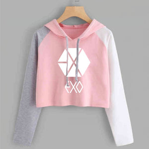 Bts Blackpink Exo K Pop Fashion Hoodies For Women Got7 Seventeen Monsta X Autumn Hoodie Wanna One Twice Idol Sweatshirt Female