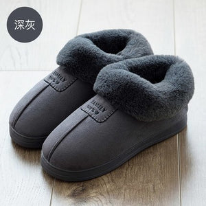Cotton Slippers Women Winter Soft Bottom Anti-skid Indoor Warm Slippers Fashion Lover Comfortable Thick Cotton Slippers 35-46