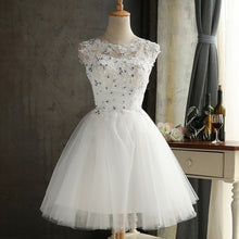 Load image into Gallery viewer, Short Lace Party Dress Plus Size White Sleeveless Backless Prom Elegant Evening Summer Dress Women Christmas Vestidos de fiesta
