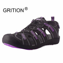 Load image into Gallery viewer, GRITION Sandals Women Flat Platform Fashion Summer Ladies Casual Outdoor Lightweight Beach Quick Dry Water Sports Shoes Purple