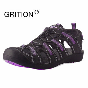 GRITION Sandals Women Flat Platform Fashion Summer Ladies Casual Outdoor Lightweight Beach Quick Dry Water Sports Shoes Purple