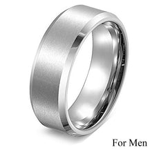 Load image into Gallery viewer, Princess Cut Cubic Zirconia Couples Rings Stainless Steel Wedding Ring Set for Women and Men Party Jewelry Wholesale