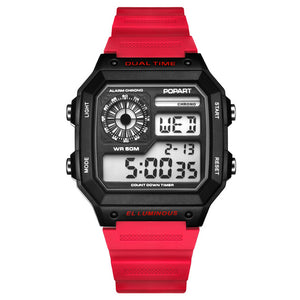 POPART LED Digital Watch Men Waterproof Sport Clock Men's Wristwatches Fashion Male Watches Mens Luxury Brand Relogio Masculino