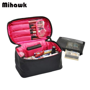 Mihawk Large Vanity Cosmetic Bag Case Travel Organizer Functional Makeup Pouch Beautician Toiletry Set Accessory Supply Products
