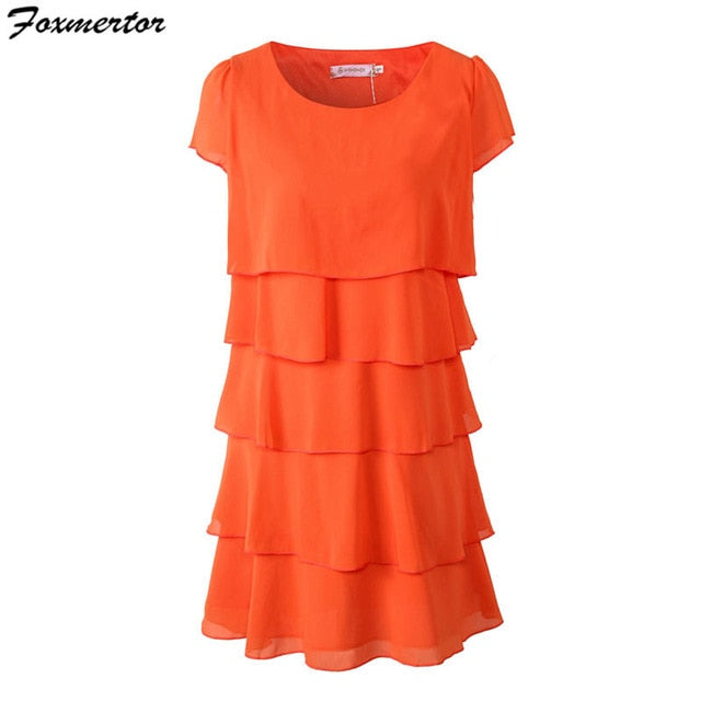 vestidos de fiesta Dress Women Plus Size 5XL High Quality Elegant Ladies Party Cocktail Ruffles Dress Loose Summer Chiffon Dress