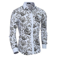 Load image into Gallery viewer, Men Flower Shirt 2019 New 3D Printing Fashion Casual Slim Fit Hawaiian Dress Shirts Camisa Masculina Chemise Homme Shirt men