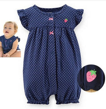 Load image into Gallery viewer, 2019orangemom summer baby girl clothes one-pieces jumpsuits baby clothing ,cotton short romper infant girl clothes roupas menina