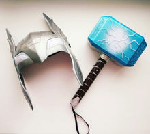 Load image into Gallery viewer, 2019 sell like hot cakes Thor Avengers Alliance Series toy 28cm Luminous voice Thor Hammer Halloween Show Props weapons model