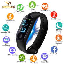 Load image into Gallery viewer, BINSSAW Men Women Sport Smart Bracelet Watch Bluetooth Clock Remote Camera Heart Rate Blood PressureSleep Monitor Pedometer Band