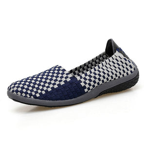 2018 New Women Flats Casual Shoes Summer Leisure Footwear Soft Laides Loafers Four Season Shoes Sapatos Femininos Woven