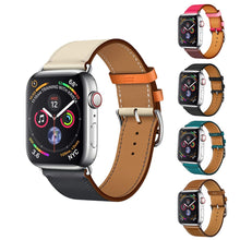 Load image into Gallery viewer, Yolovie Genuine Leather Strap Band for Apple Watch 42mm 44mm Series 4 3 2 1, High Quality Leather for Apple Sport Band 38mm 40mm