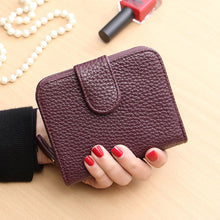 Load image into Gallery viewer, Fashion Matte Leather Women Wallet Zipper Coin Purse Female Wallet and Small Purse Ladies Purses Card Holder Short  Carteras