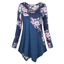 Load image into Gallery viewer, Plus Size 5XL Womens Tops And Blouses 2018 Women Vintage Floral Print Long Sleeve Blouse Clothes Ladies Tops Fashion Clothing
