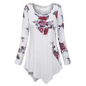 Plus Size 5XL Womens Tops And Blouses 2018 Women Vintage Floral Print Long Sleeve Blouse Clothes Ladies Tops Fashion Clothing