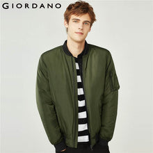 Load image into Gallery viewer, Giordano Men Jacket Thick Warm Bomber Jacket Men Quilted Cotton Mock Neck Bomber Jacket Zip Fly Pocket Casual Jaqueta Masculina