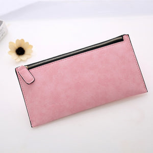 AUTEUIL Retro pu leather Women's Purse Ladies Wallet Long Money Bags Simple Style Thin Wallets Female Card Holder Low price Sale