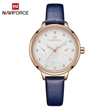 Load image into Gallery viewer, NAVIFORCE Watch Women Fashion Simple Quartz Watches Ladies Thin Leather Casual Female Wrist Watch Girl Clock Relogio Feminino