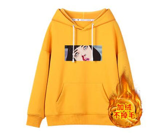 Korean of the wild loose bf street funny Hooded Sweatshirts