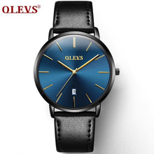 Load image into Gallery viewer, Ultra Thin Casual Male Wristwatch Black Leather Mens Watches Business Date Quartz Man Watch Waterproof Men Clock montre homme