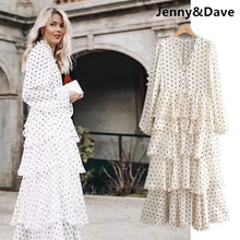 Load image into Gallery viewer, Jenny&Dave 2019 vestidos feminina dress england style cascading ruffles on vacation vestidos de fiesta party dress women 0105