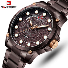 Load image into Gallery viewer, NAVIFORCE Top Luxury Brand Watches Men Fashion Full Stainless Steel Waterproof Quartz Clock Mens Wrist Watch Relogio Masculino