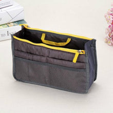 Load image into Gallery viewer, iMucci Women Nylon Travel Insert Organizer Handbag Purse Large liner Lady Makeup Cosmetic Bag Cheap Female Tote