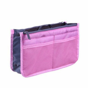 iMucci Women Nylon Travel Insert Organizer Handbag Purse Large liner Lady Makeup Cosmetic Bag Cheap Female Tote