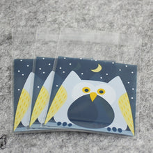 Load image into Gallery viewer, 7*7cm 100ps/set Multicolor Self-adhesive Plastic Gift Food Packing bag Cute Small Biscuit bag for candy Packing,cookie packing