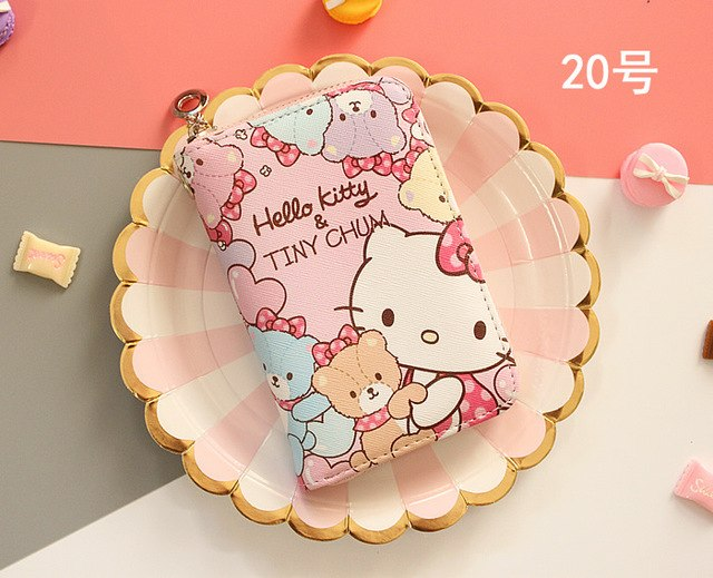 cute Wallet Women 2018 Lady Short Women Wallets hello kitty Mini Money Purses PU Leather Female Coin Purse Card Holder Carteras