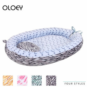 High Quality Sleeping Nest Bed Newborn Travel Baby Protector Plush Crib Soft and Comfortable Portable Baby Sleeping Dedicated