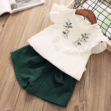 Load image into Gallery viewer, Bear Leader Girls Clothing Sets  Summer Fashion girls sleeveless Splicing design T-shirt+Casual pants 2Pcs Girls Clothes