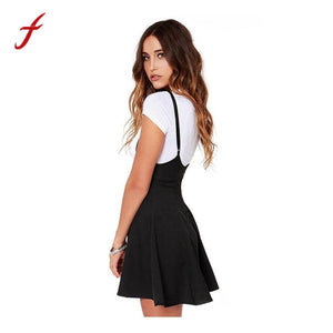 Plus Size Summer Dress Women Fashion Black Dress With Shoulder Straps Pleated Dress Sexy Back With Zipper Dress ukraine vestidos