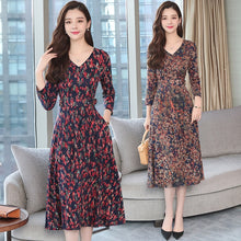 Load image into Gallery viewer, Autumn Winter New 3XL Plus Size Vintage Midi Dresses 2018 Women Elegant Bodycon Floral Dress Party Long Sleeve Runway Vestidos