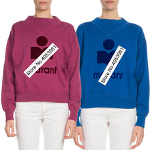 Load image into Gallery viewer, Latest 2018 Women Grey/Green/Royal Blue/Rose-colored Letter Print Sweatshirt With Round Neck & Long Sleeve - Ladies Pullover