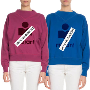Latest 2018 Women Grey/Green/Royal Blue/Rose-colored Letter Print Sweatshirt With Round Neck & Long Sleeve - Ladies Pullover