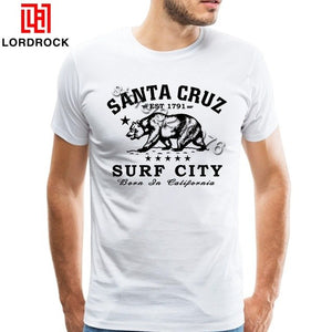 Handsome Men California TShirt High Quality White California Short Sleeve Custom Printing T-Shirts Man Guys Clothes Big Size Tee