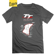 Load image into Gallery viewer, Isle Of Man TT Motorcycle T Shirts Men's 2018 Fashion Short Sleeve 100% Cotton T-Shirt O Neck Classic Tees Awesome
