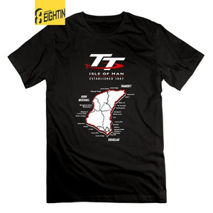 Isle Of Man TT Motorcycle T Shirts Men's 2018 Fashion Short Sleeve 100% Cotton T-Shirt O Neck Classic Tees Awesome