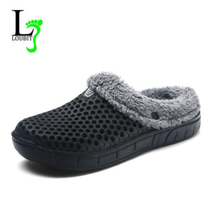 Women Shoes Winter Slippers Fashion Loafers Female Indoor Shoes With Fur Women Warm Flats Slip On Plus Size 41 Zapatos De Mujer