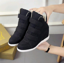 Load image into Gallery viewer, High help wild girl inside the increase shoes spring and summer indoor indoor leisure flat bottom magic stickers student shoes