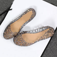 Load image into Gallery viewer, New Women's Sandals Summer Shoes Casual Jelly Tenis Female Bling Mesh Hollow Out Flats Sandals Comfortable Beach Shoes Ladies