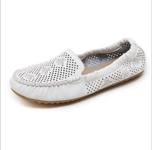 Load image into Gallery viewer, Hot Summer Bow  Flat shoes Square head Shallow mouth Peas shoes Breathable Flat with Pregnant mother Egg roll Shoes  Woman sh18