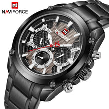 Load image into Gallery viewer, Top Luxury Brand NAVIFORCE Classic Black Sport Quartz Watch Men Fashion Mens Full Steel Week Display Watches Relogio Masculino