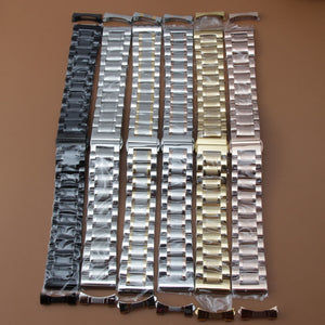 Watchband 19mm 20mm 21mm 22mm watch Bracelets high quality stainless steel watch Accessories free curved ends for men womens new